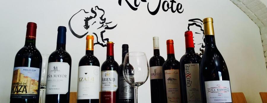 Selección de vinos tintos